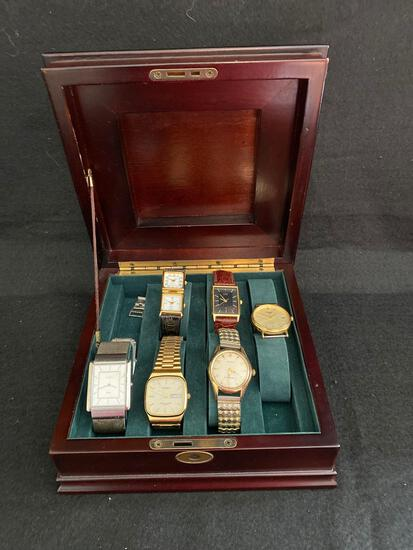 Bombay Company box with 6 watches
