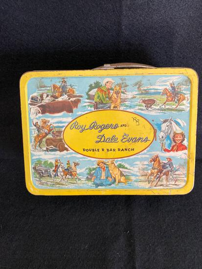 Roy Rogers and Dale Evans Double R Bar Ranch 1950s lunchbox