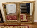 (2) gilded mirrors 36