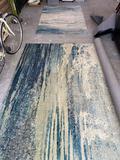 Surya 8' x 10' & 4' x 6' blue pattern rugs plus 5' x 8' outdoor rug