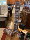 CD collection and rack