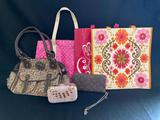 Women's tote bags and purses