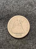 1875 S Liberty Seated Twenty-Cent Piece