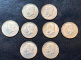 (8) Kennedy Half Dollars 1966-69