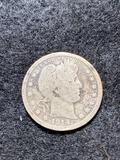 US Silver coins: 1914 Liberty Head & (17) Washington quarters