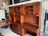 Hooker Furniture office suite-desk & return, hutches, (2) file cabinets