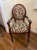 Zebra pattern side chair