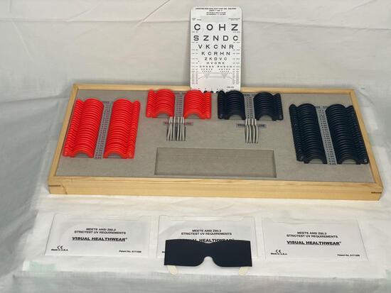 Optical phoroptor lense set