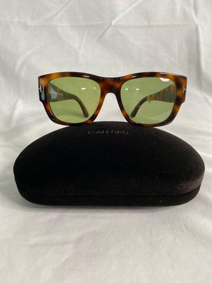 Tom Ford TF493 tortoise shell men's sunglasses 54.17.140