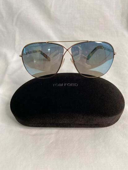 Tom Ford TF393 gold tortoise shell women's sunglasses 61.10.145