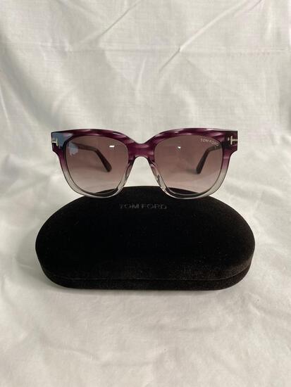 Tom Ford TF436 purple green women's sunglasses 53.18.140