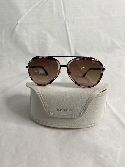 Tom Ford TF468 cream tortoise shell women's sunglasses 58.17.140