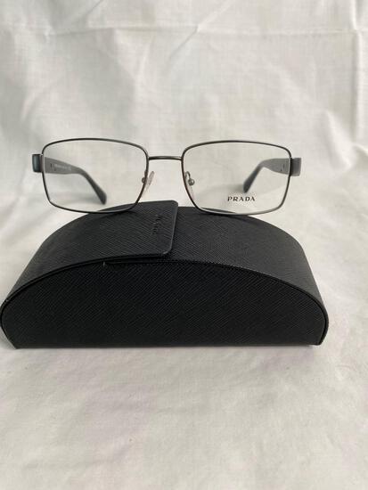 Prada VPR53R gun metal 54.17.140 men's eyeglass frames