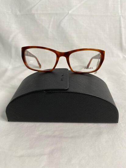 Prada VPR18O tortoise 52.18.135 women's eyeglass frames