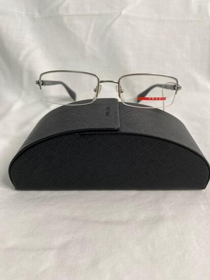 Prada VPS51B silver 51.18.140 men's eyeglass frames