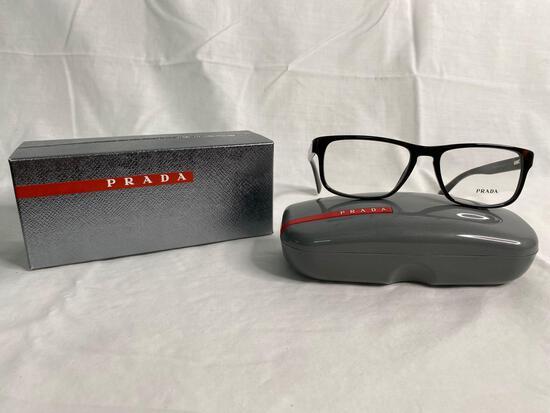 Prada VPR07P tortoise 56.17.145 men's eyeglass frames