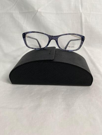 Prada VPR04P blue tortoise 52.17.135 women's eyeglass frames