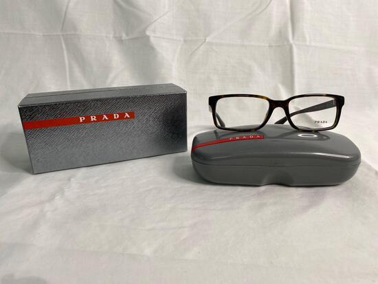 Prada VPR15Q tortoise 54.17.145 men's eyeglass frames