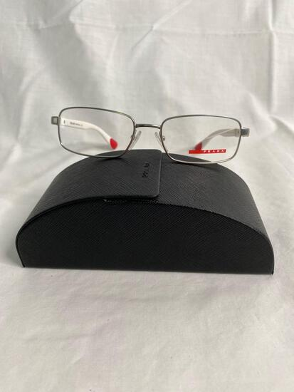 Prada VPS51C silver/white 53.17.135 men's eyeglass frames