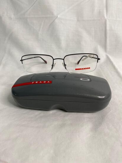 Prada VPS51F black 55.18.145 men's eyeglass frames