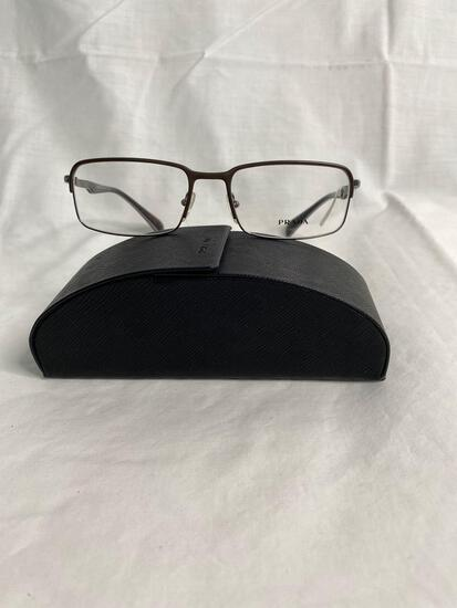 Prada VPR61Q gun metal 56.18.140 men's eyeglass frames