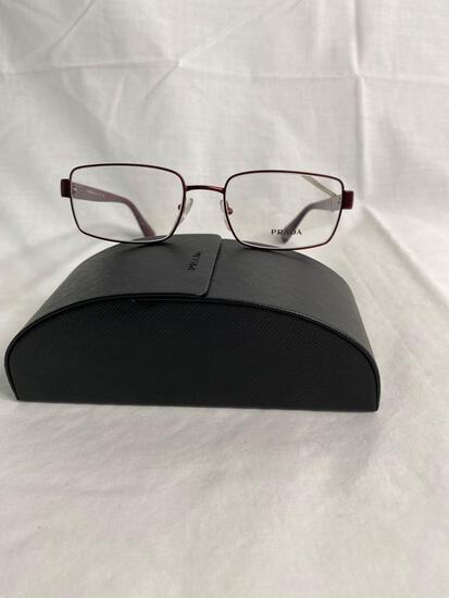 Prada VPR60Q burgundy 54.18.140 women's eyeglass frames