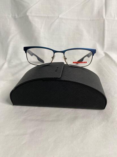 Prada VPS54D blue 51.18.140 men's eyeglass frames