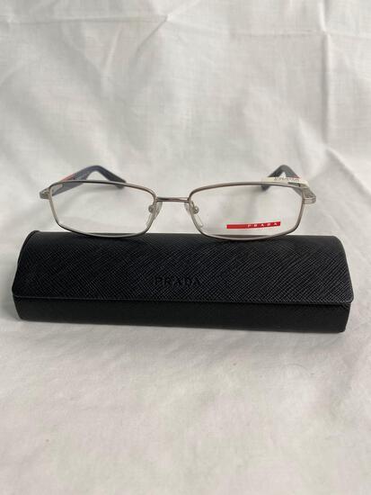 Prada VPS54B silver 52.16.140 men's eyeglass frames
