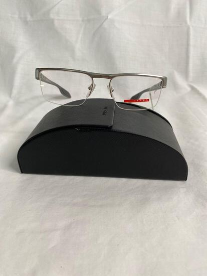 Prada VPS57E silver 51.17.145 men's eyeglass frames