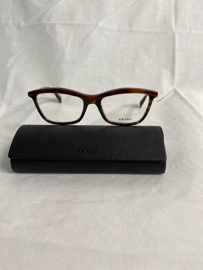 Prada VPR17P tortoise 54.18.140 women's eyeglass frames