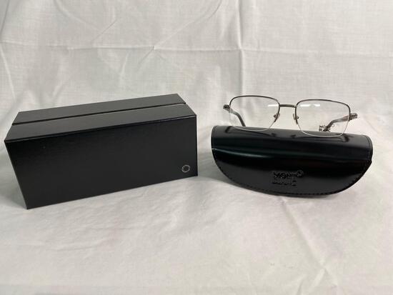 Mont Blanc MB534 silver 55.18.140 men's eyeglass frames
