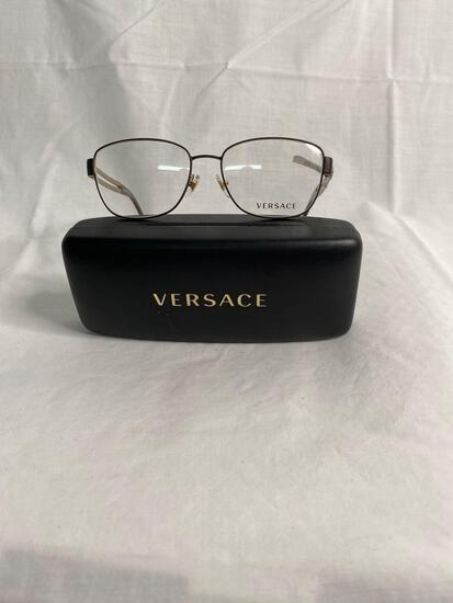 Versace VE1234 black gold 54.16.140 unisex eyeglass frames
