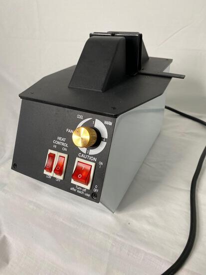 Electric eye glass frame heater