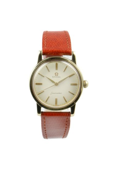 1960's Classic Omega Seamaster Gold Strap Watch