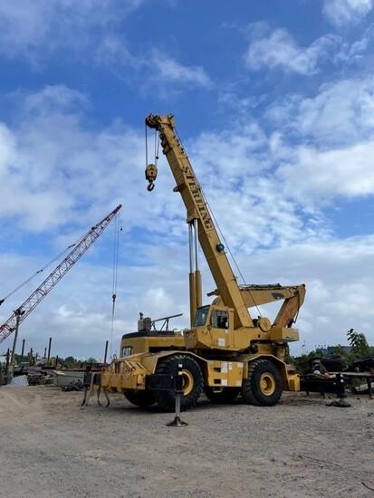 Grove #745, 45 Ton Rough Terrain Crane, 136' Main Power Boom w/32' Swing, One Block & One Ball,