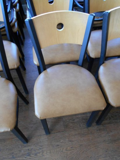 BROWN PADDED CHAIRS