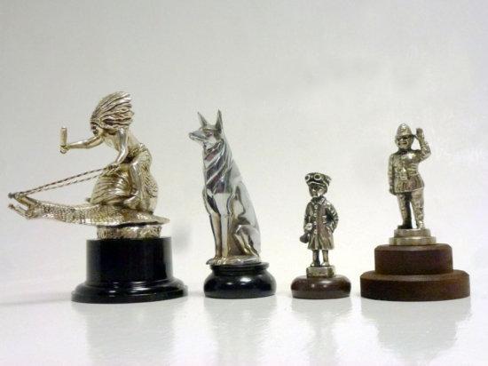 Four Car Mascots