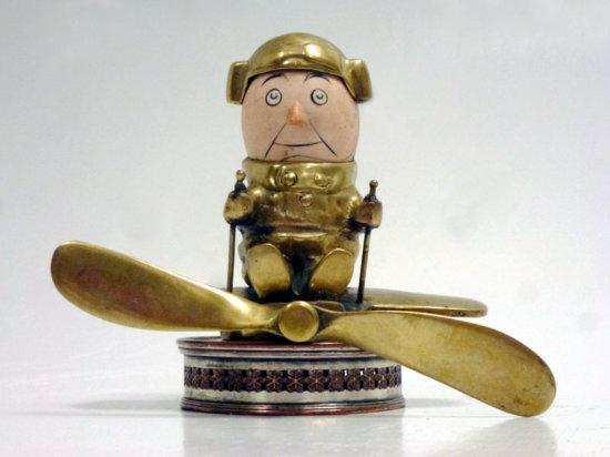 A Rare 'Aviator' Accessory Mascot by John Hassall