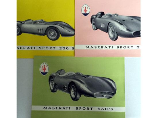 A Rare Maserati Sales Brochure Pack