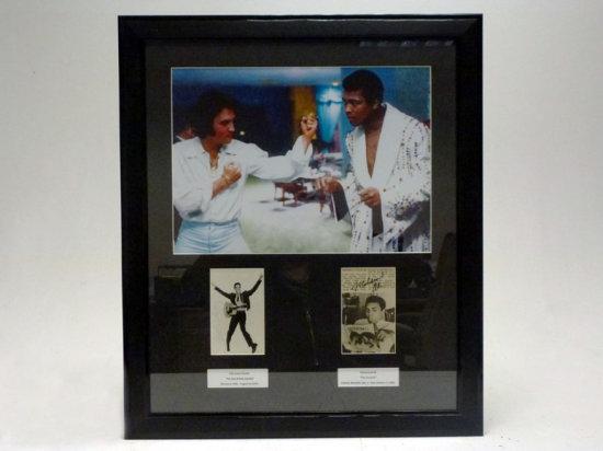 Elvis Presley and Mohammed Ali Signed Presentation