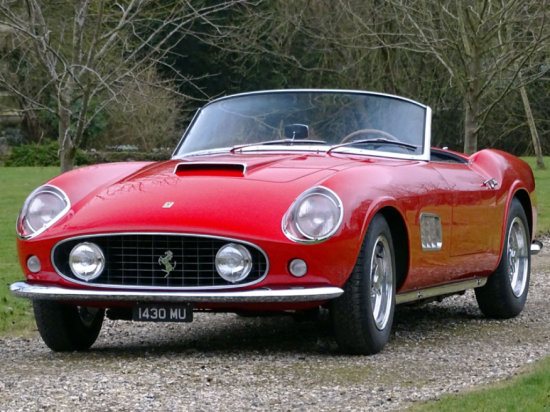 1958 Ferrari 250GT PF Coupe Rebodied as a LWB California Spyder
