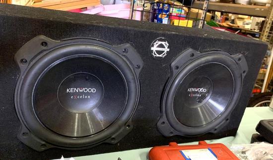 "Kenwood Dual 10"" Subwoofers in Basswork Box"