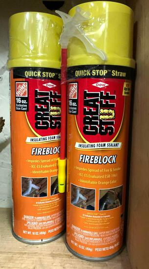 2 New Fireblock Great Stuff