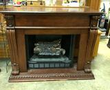 Gas Fireplace insert with Mantle