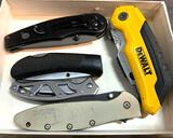 5 Assorted Folding Knives