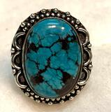 Natural Turquoise Ring Size 7.5