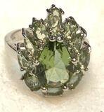 Light Green Amethyst Ring Size 6