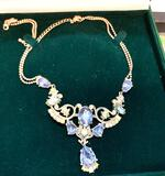 Vintage looking Necklace with Opals, Aquamarine etc