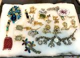 Lot of Pins, Brooches, Bracelets etc