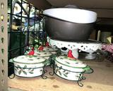 Kitchen ware- Cake Plate, Serving Dishes etc